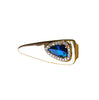 Australian black opal diamond solid 14k yellow gold tie clip - Ready to ship CLICK HERE - Sarah Hughes - 4