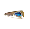 Australian black opal diamond solid 14k yellow gold tie clip - Ready to ship CLICK HERE - Sarah Hughes - 2