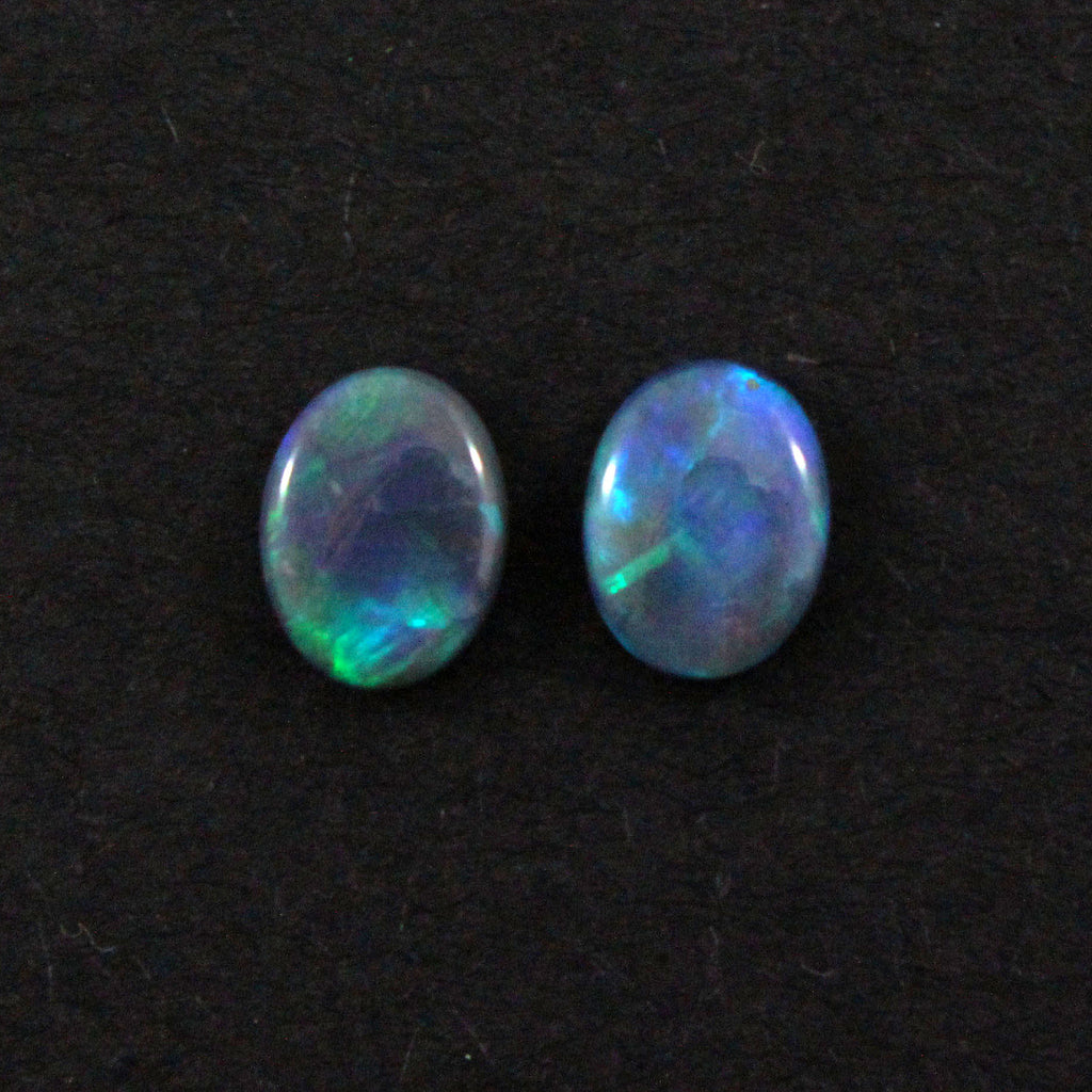 Australian black opal matched pair 1.68 carat total loose gemstone - Purchase only with custom order - Sarah Hughes - 1