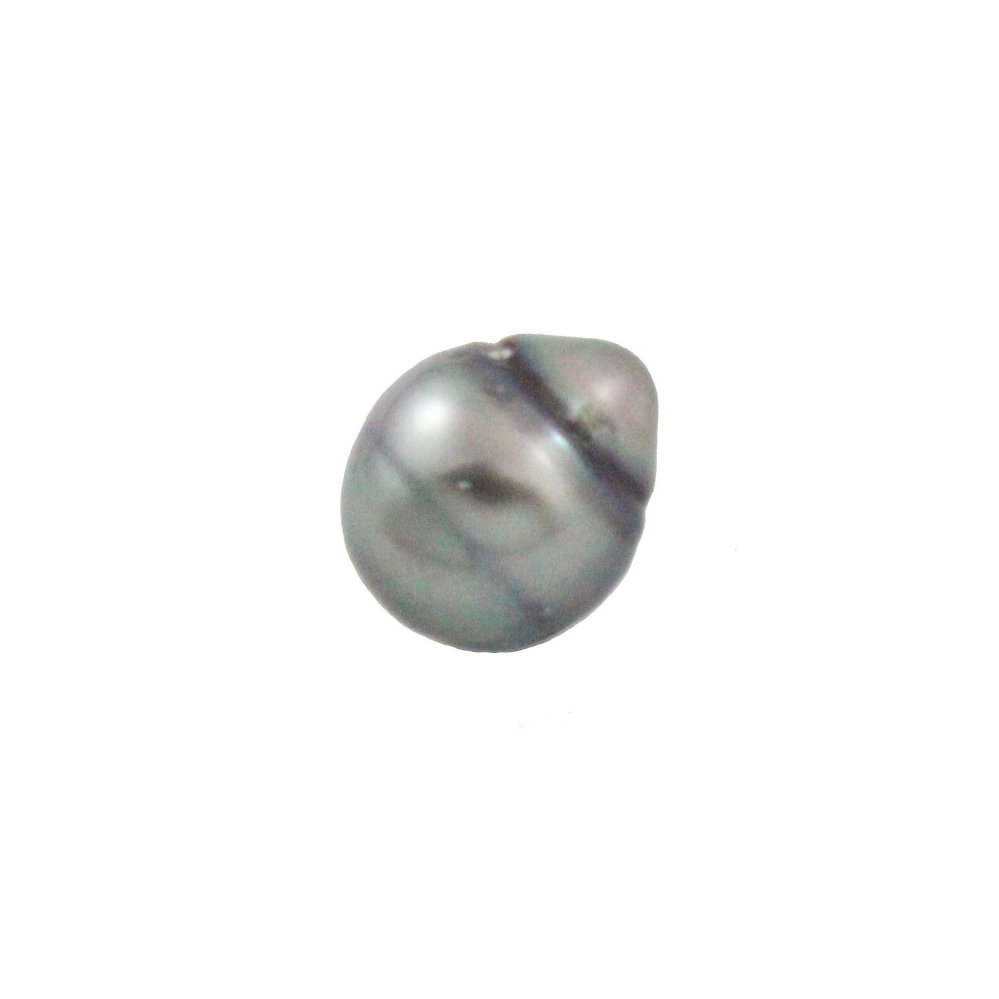Tahitian pearl undrilled 1.05gr mm 10x8.92mm - Purchase only with custom order - Sarah Hughes - 1