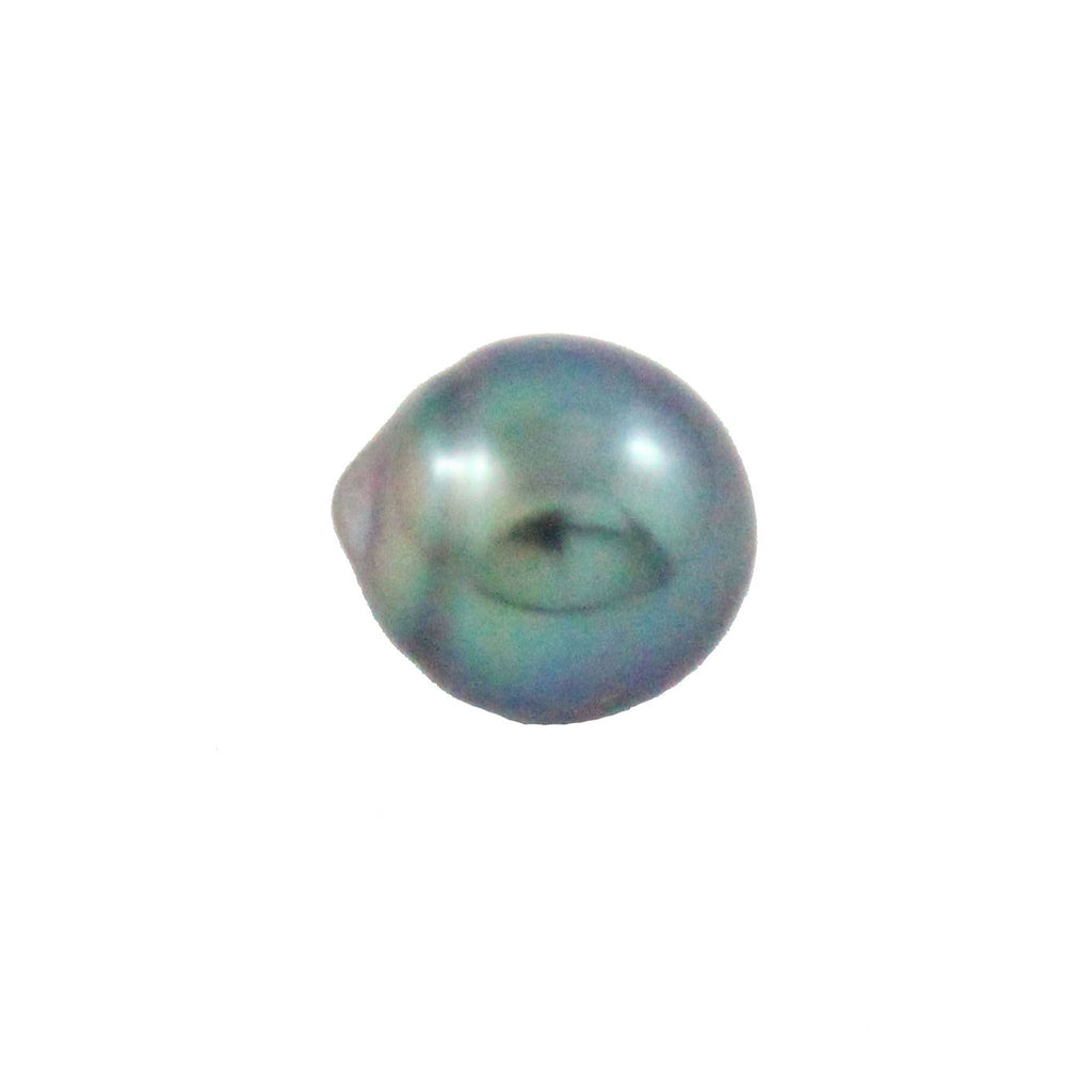 Tahitian pearl undrilled 0.94gr mm 9.53x8.65mm - Purchase only with custom order - Sarah Hughes - 1