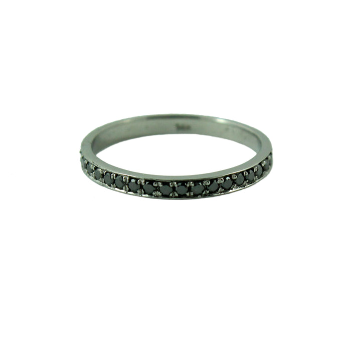 Half eternity diamond 14k yellow gold ring
