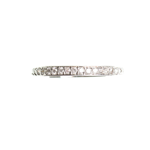 Half eternity diamond 14k white gold ring