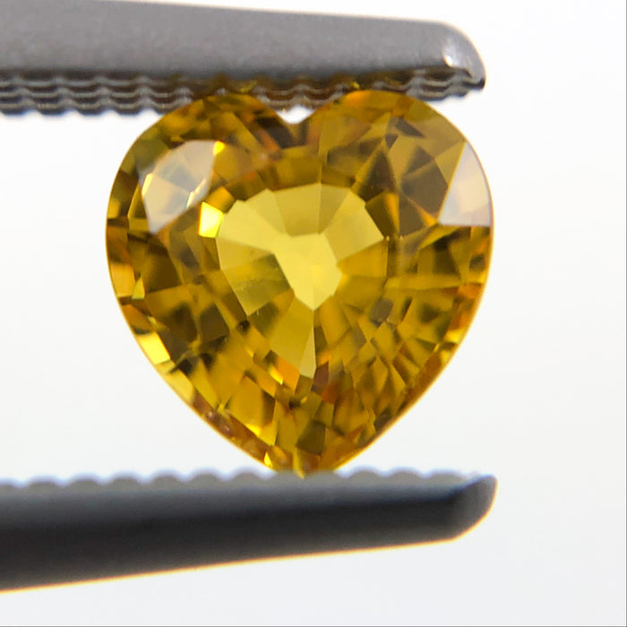 Yellow Sapphire heart cut 0.60 carat loose gemtone - Buy loose or Make your own custom jewelry