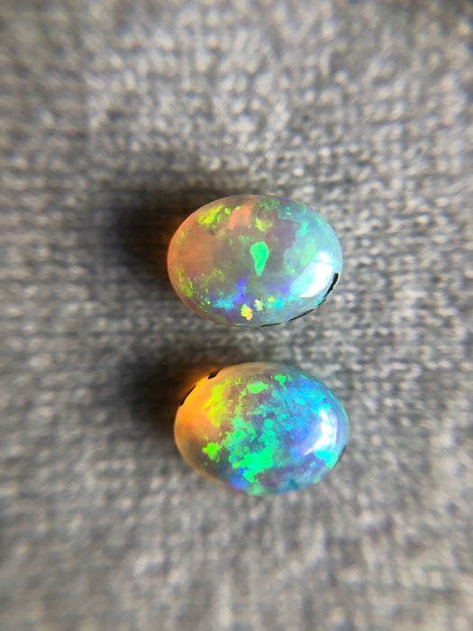 Australian jelly opal matched pair 1.43 carat total loose gemstone - Buy with custom order