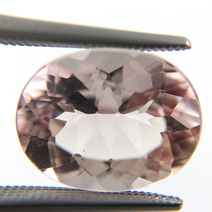 Morganite oval cut 5.18 carat loose gemstone - Buy loose or Make your own custom jewelry
