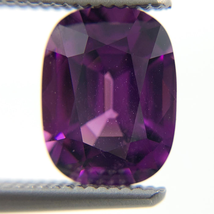 Purple Garnet rectangle cushion cut 1.56 carat gemstone