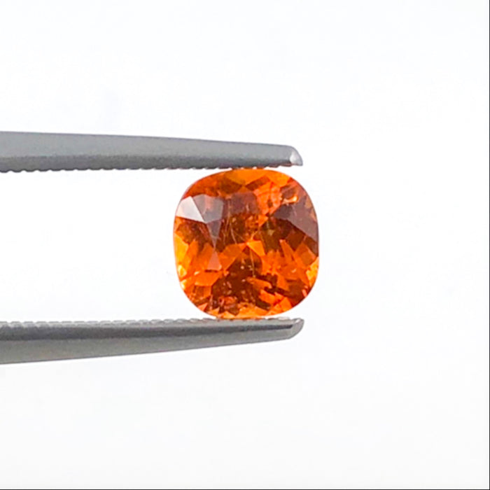 Mandarin garnet 1.17 carat 5.7x5.8x3.89mm square cushion cut loose gemstone