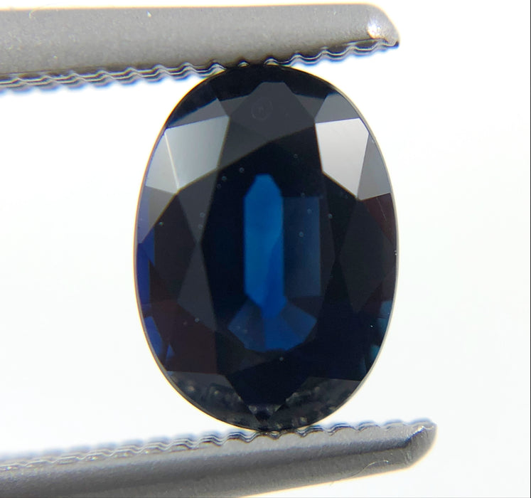 Australian Blue Sapphire oval cut 1.23 carats - Make your own custom jewelry design