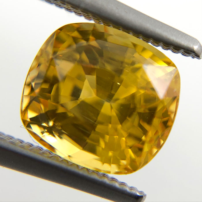 Yellow Sapphire 2.53 carat 7.20x6.58x5.66mm rectangle cushion cut