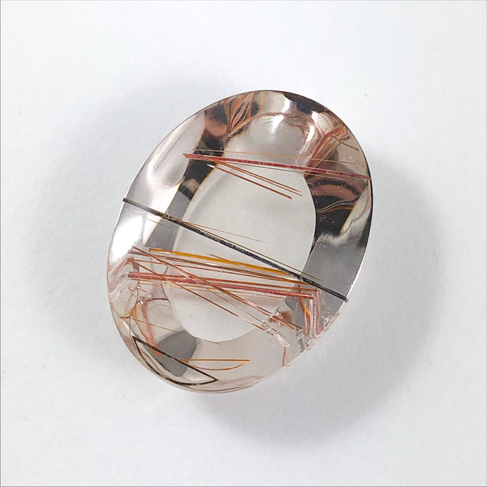 Rutilated Quartz oval cut cabochon 27.01 carats - Buy loose or make your own jewelry order