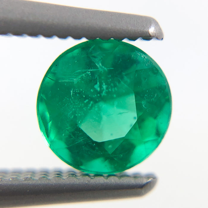Emerald round brilliant cut 0.48 carat loose gemstone - Make a custom order