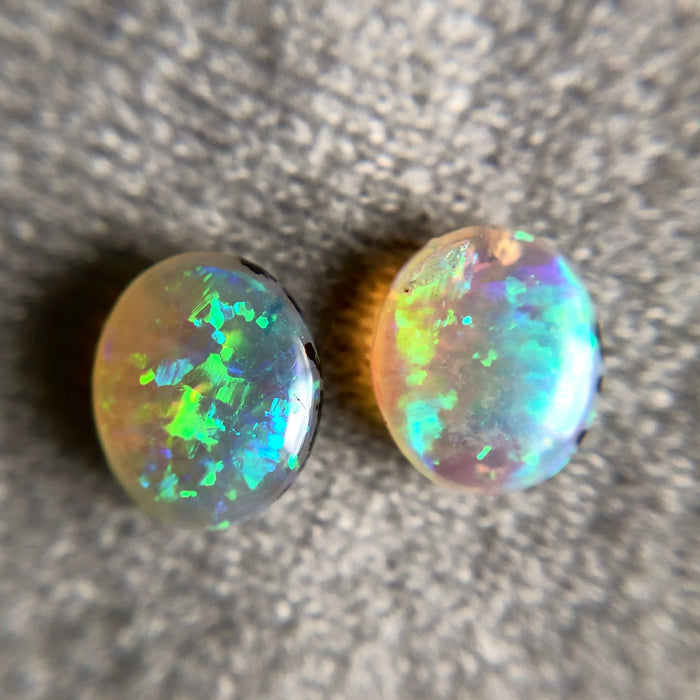 Australian jelly opal matched pair 1.17 carat total loose gemstone - Purchase only with custom order