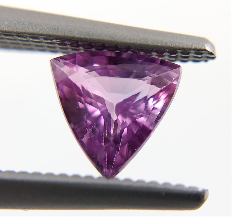 Natural Purple Sapphire 5mm trilliant cut 0.54 carats - Make your own custom jewelry design