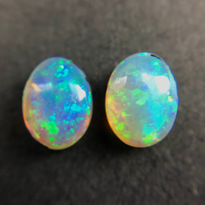 Australian jelly opal matched pair 2.53 carat total loose gemstone - Purchase only with custom order