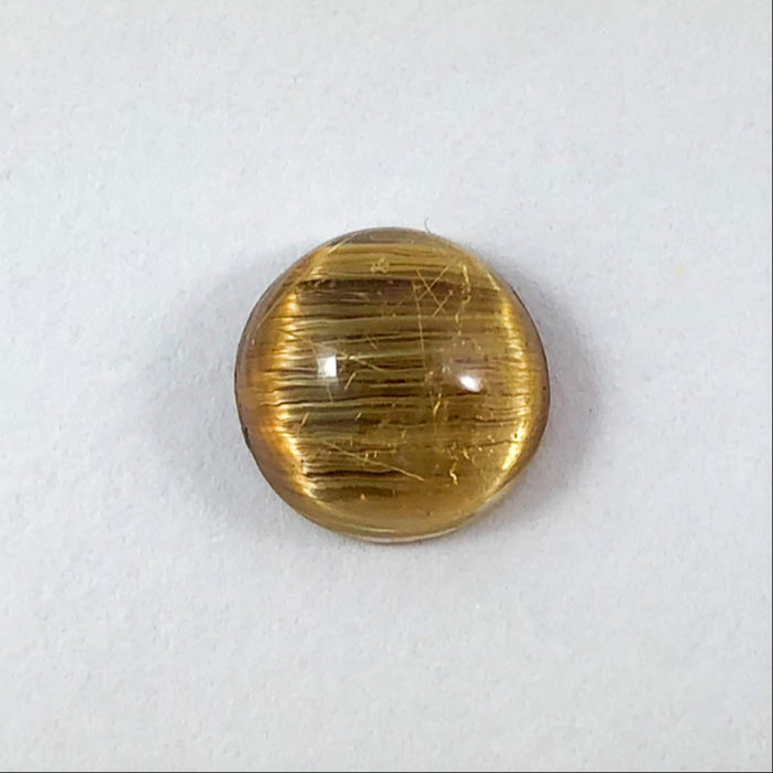 Rutilated Quartz Cat's Eye round cut 3.23 carats - Buy only with custom order