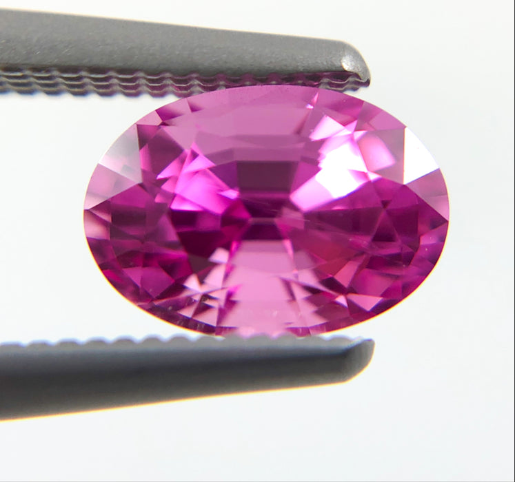 Pink Sapphire 1.19 carat 6.98x4.86x4.29mm oval cut - Buy loose or Make your own jewelry design