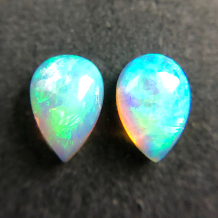 Australian jelly opal matched pair 0.80 carat total gemstone - Purchase only with custom order!