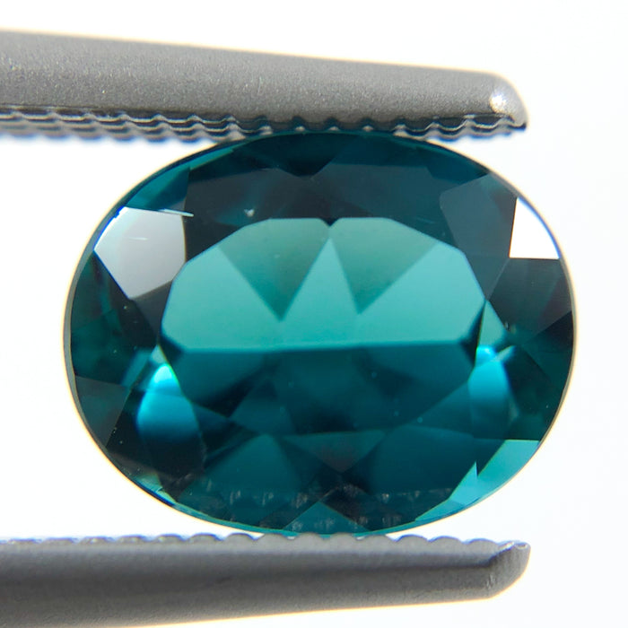 Teal Blue Tourmaline oval cut 1.29 carat gemstone - Buy loose or make your own custom jewelry