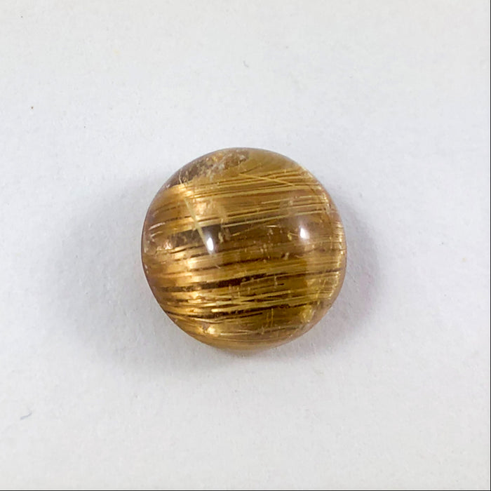 Rutilated Quartz Cat's Eye round cut 7.24 carats - Buy only with custom order