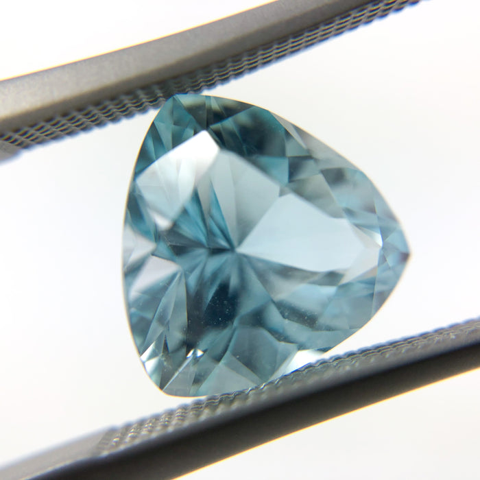 Natural untreated blue topaz trillion cut 4.48 carat loose gemstone