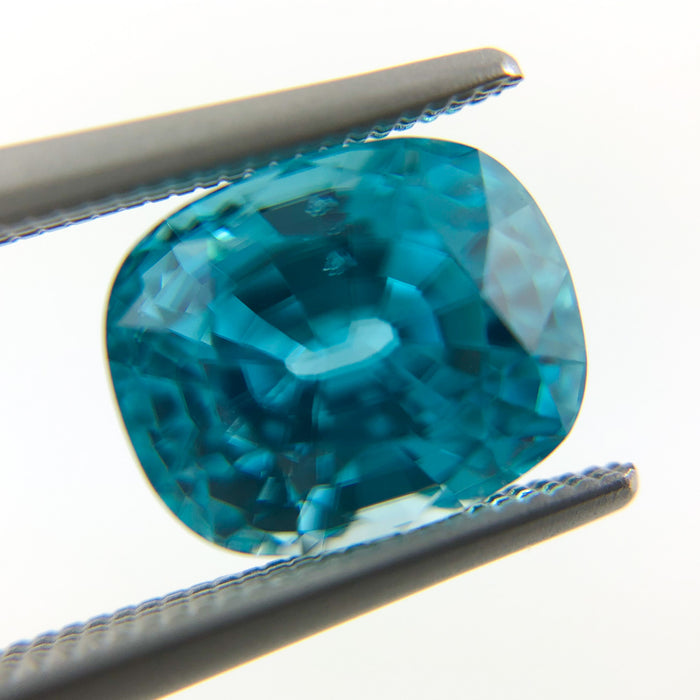 Blue Zircon rectangle cushion cut 4.92 carat gemstone - Buy loose or Make your own custom jewelry