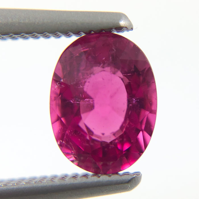 Hot pink red tourmaline 6.7x5.1mm 0.81 carat oval cut loose gemstone - Make your own custom order
