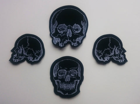 Set of four skull patches