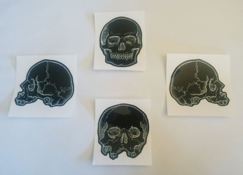 Skull Sticker set of four