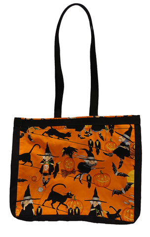 Witch print tote bag