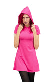Hooded t-shirt dress in pink