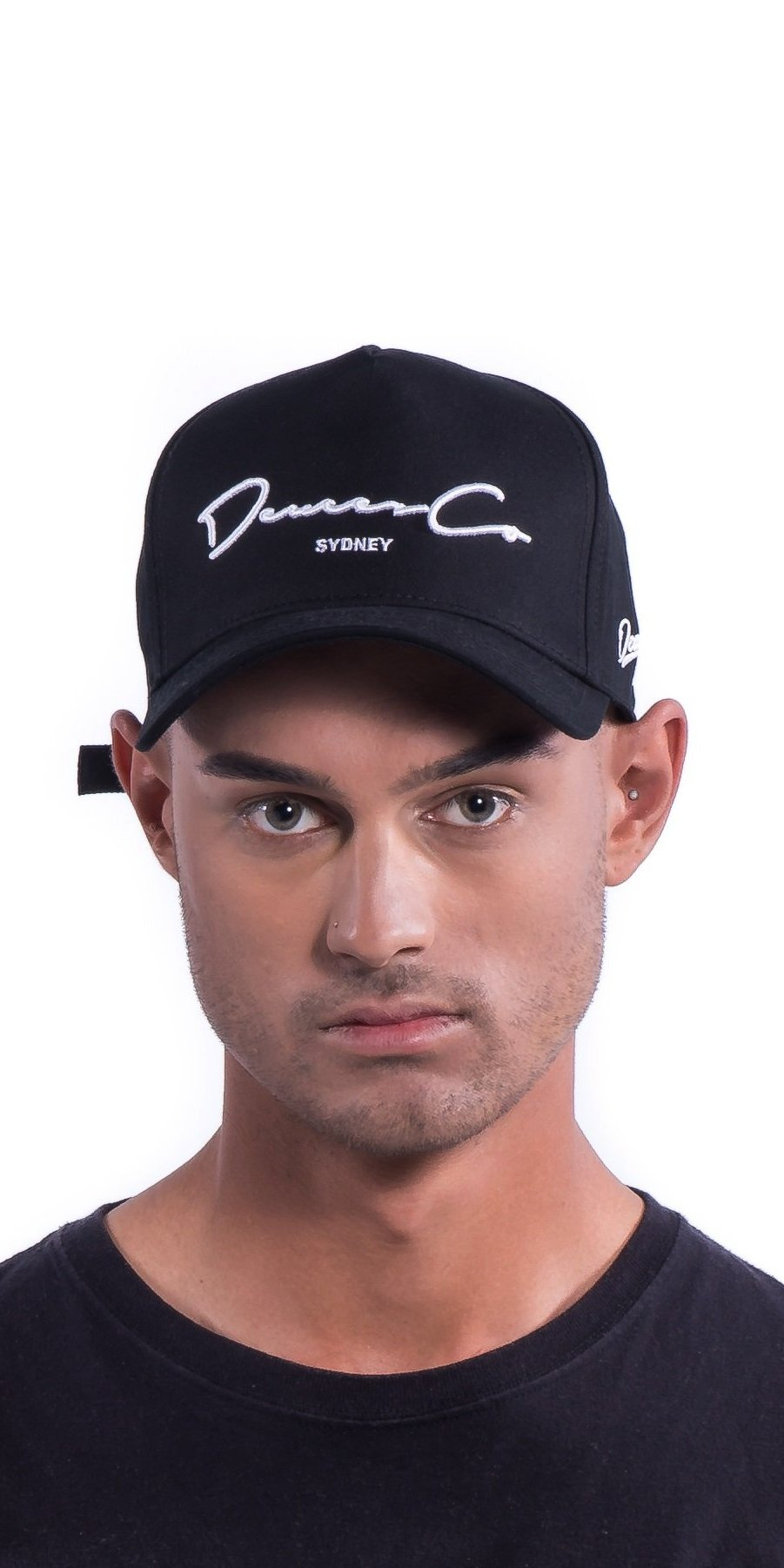 Black Deuces Co Strapback Cap Hat Front