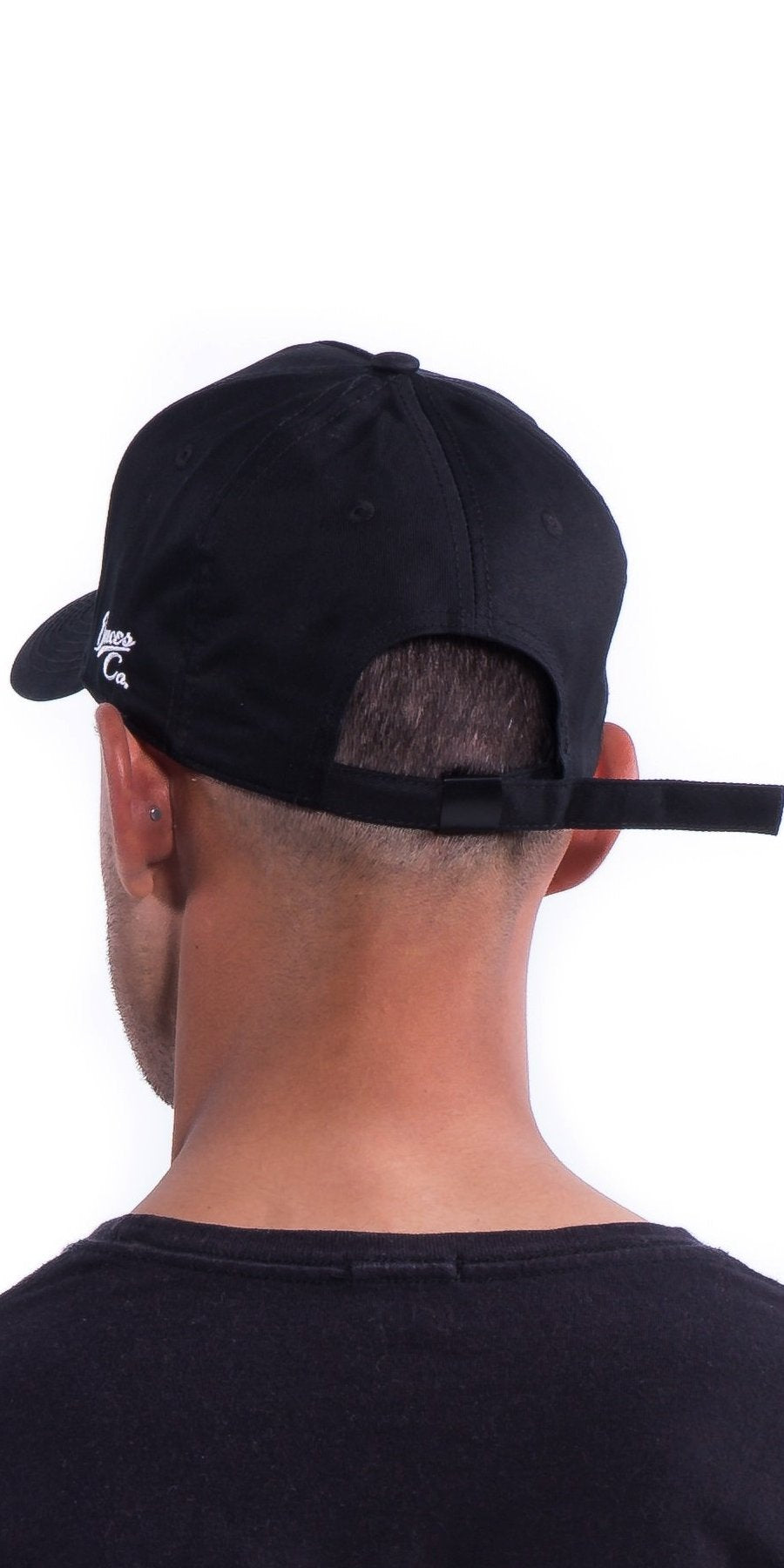 Black Deuces Co Strapback Cap Hat Rear