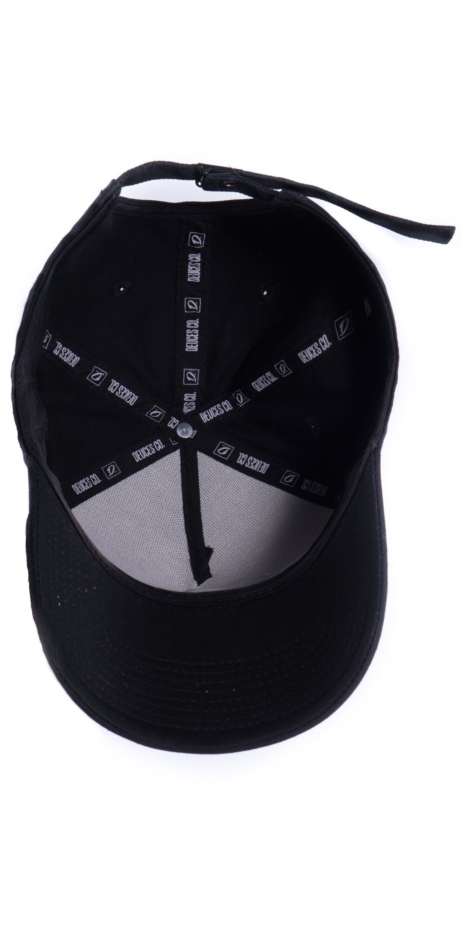 Black Deuces Co Strapback Cap Hat Inside