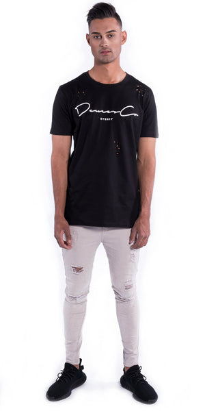 Original Staple Tee (Ripped) - Black