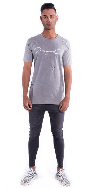 Original Staple Tee (Ripped) - Grey