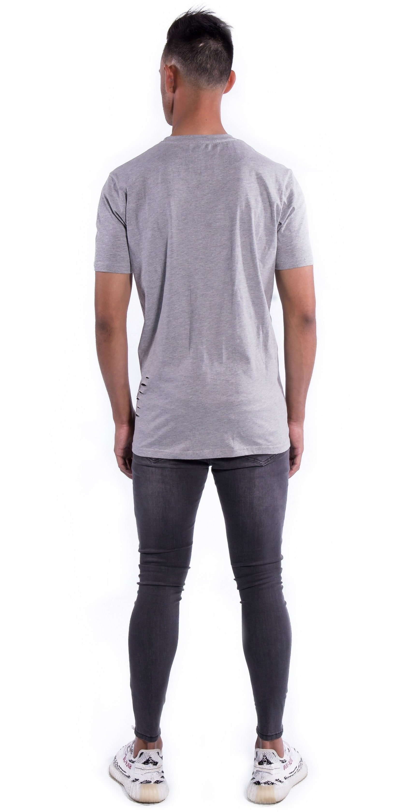 Grey Deuces Co Ripped Original Staple Tee Back