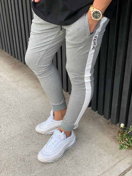 Grey Deuces Joggers w/ zipper pockets