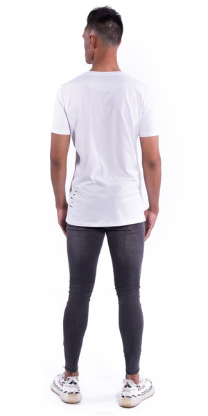 Original Staple Tee (Ripped) - White