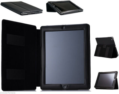 Leather Smart Cover Folio Case with Sleep Function for the Apple iPad 4, iPad 3, - Popular for Sale