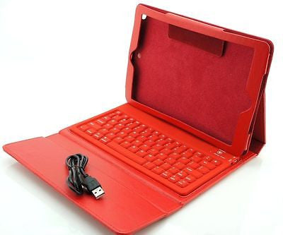 Apple iPad Air 5th Gen Wireless Bluetooth Keyboard Leather Case Cover RED - Popular for Sale  - 1