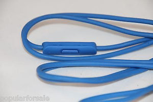 Original Audio Cable 3.5mm/ L Cord/ Beats by Dr Dre Headphones Aux & Mic Blue - Popular for Sale  - 4