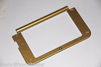 Gold Zelda Nintendo 3DS XL Replacement Hinge Part Top Middle Shell/Housing US - Popular for Sale  - 1