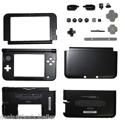 OEM Nintendo 3DS XL Case Replacement Full Housing Shell Black 3DSXL Parts L&R - Popular for Sale  - 1