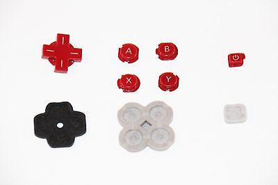 Original Official Authentic Nintendo 3DS Part Red Button Set & Rubber Pad - Popular for Sale