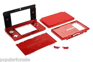 Original OEM Nintendo 3DS Case Replacement Full Housing Shell RED 3DS US Seller - Popular for Sale  - 1