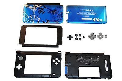OEM Nintendo 3DS XL FULL Replacement Shell-Case w Blue Top Pokemon X&Y Back - Popular for Sale  - 1
