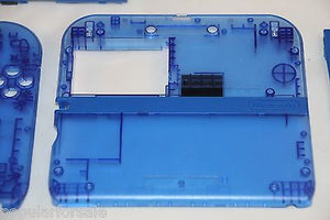 Limited Edition Nintendo 2DS Crystal Clear Full Shell Housing Replacement Blue - Popular for Sale  - 2