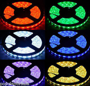 16' 12V 300-Color Changing LED Flexible Waterproof Light Strip 3m Tape Adhesive - Popular for Sale  - 3