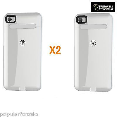 2X White Duracell Powermat Wireless Charging Cases for iPHONE 4/4S ONLY CASE - Popular for Sale